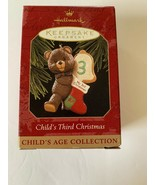 1997 HALLMARK KEEPSAKE CHILD'S THIRD CHRISTMAS CHILD'S AGE COLLECTION BEAR - $9.89