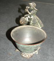 Vintage Israel Crinoline Lady Decorative Trinket Bowl Dish 1960's image 3