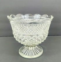 Anchor Hocking Crystal Wexford Glass Centerpiece Footed Bowl  - $27.84