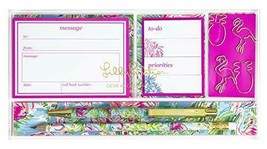 Lilly Pulitzer Womens Desk Accessories Set | Includes a Pen & Pencil, Tab - $57.41