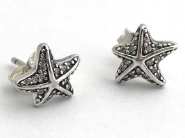 Authentic Pandora Tropical Starfish Stud Earrings, 290748CZ, New - $43.69