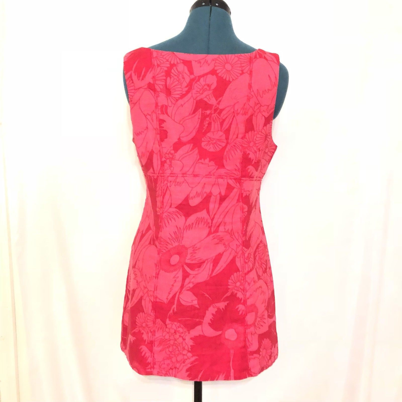 Free People pink floral Shift dress pockets