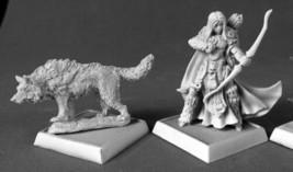 Adowyn Iconic Hunter & Wolf Reaper Miniatures Pathfinder RPG Familiar Ranger - $11.67