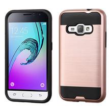 Matte Hybrid Armor Cover Case for Samsung Galaxy J1 2016 /  Amp 2 - Rose... - $4.99