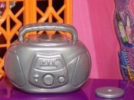 Gray w/hand stereo boombox radio cd lt fits Fisher Price loving family dollhouse - $5.93