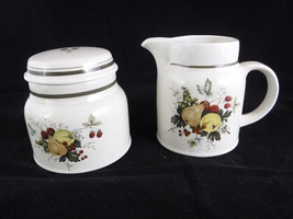 Royal Doulton CORNWALL Creamer & Sugar Bowl  With Lid Double Green Trim ... - $19.99