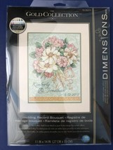 Dimension The Gold Collection Wedding Record Bouquet Counted Cross Stitch Kit  - $45.95