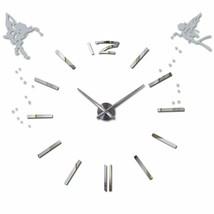 3D DIY Modern Large Wall Clock Angels Oversized Stylish Acrylic Home Dec... - $35.78
