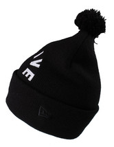 Primitive New Era Black White Embroidered Arc Pom Beanie Winter Skate Hat NWT image 2