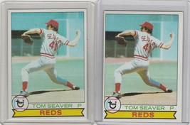 1979 Topps #100 Tom Seaver Reds Lot of 2 - $1.42