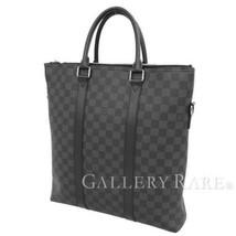 LOUIS VUITTON Anton Tote Damier Graphite N40000 Handbag France Authentic... - $1,627.97