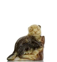 Whimsies Porcelain Miniatures by Wade Recessed Beaver Figurine image 1