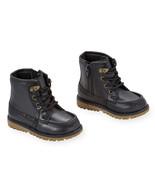Koala Kids Black Lace Up Boot with Zipper Closure- Toddler Boy Size 6  NWT - $19.99