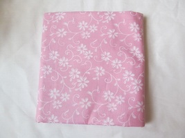 Light Bubblegum Pink Floral Vines Leaves Quilting Fabric JoAnn Fabrics 1... - $14.50