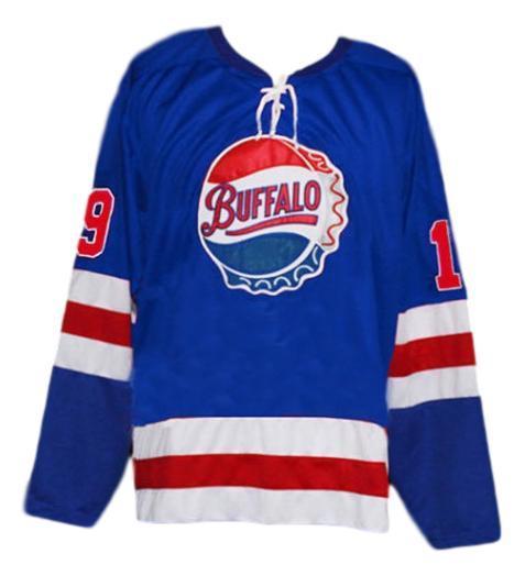 Buffalo bisons retro hockey jersey blue   1