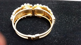 Vintage White Cabochons Clamp Bracelet - $24.00