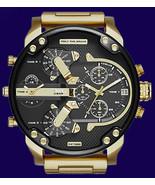 Diesel Original DZ7333 MR DADDY 2.0 Gold Multiple Time Chronograph Watch - £122.82 GBP
