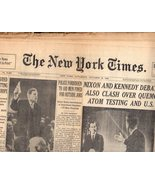 The New York Times , Saturday , October 22, 1960 (Section One) - $5.95