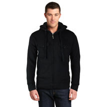 Niko Sportswear Men's Multi Pocket Fleece Lined Hooded Zip Up Jacket BJH-01 image 5
