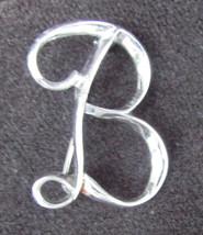 Sarah Coventry initial B pin silver tone - $4.90