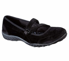 23094 Black Skechers shoe Memory Foam Women Comfort Soft Velvet Casual M... - $29.99