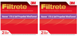 2~ 3M Filtrate Vacuum Belts For Hoover 170 Self Propelled Wind Tunnel 2 ... - $11.99