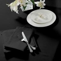 "Plain Woven Black Rectangle Tablecloth 70"" X 108"" (178CM X 275CM) & 4 Napkins - $45.11"