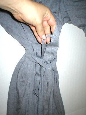 NWT $180 New Natori Gray Robe Womens Long Very Soft Solid XXL Pockets Heathered image 3