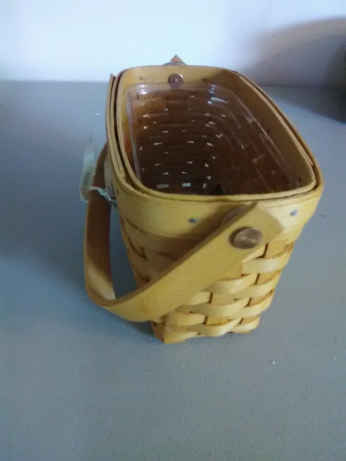 Longaberger Dresden Tour Basket II - 1999 Edition - Swing Handle w Protector image 3