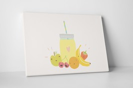 """Fruit Smoothie Jar Kitchen Wall Art Gallery Wrapped Canvas. 30""""x20 or 20""""x16"""" - $44.50+"""