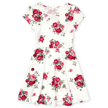 NWT The Childrens Place Girls White Red Floral Skater Dress 10-12 14 16 - $10.99