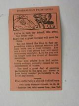 Vintage Walt Disney World Esmeralda's Prophecies Fortune Teller Card - $8.00