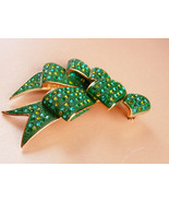Couture statement huge bow brooch - green signeCouture statement huge bo... - $75.00
