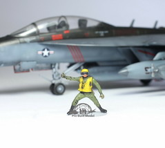 US Navy Yellow Deck crew 1:72 Pro Built Model #2 - $14.83