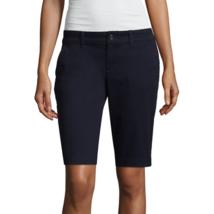 Arizona Jean Co. Women's Bermuda Shorts Darkest Sky Blue Size 1 NEW W Tags - $21.77