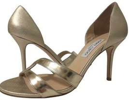 Jimmy Choo Metallic Gold Sandals Size 40.5 - $311.85