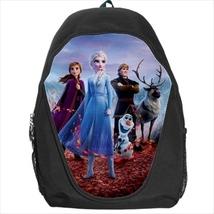 backpack frozen elsa anna olaf kristoff sven snowman school bag - $41.79