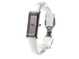 Auth GUCCI 1500L Silver Dial STAINLESS STEEL Women's Quartz Watch GW11645L - $250.57 CAD
