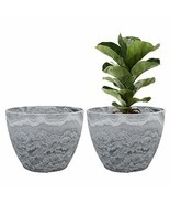 Flower Pot Large Garden Planters 11.3 Inches Pack 2 Outdoor Indoor, Resi... - $54.48 CAD