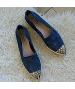Miu Miu | Size EU 41 Blue Jeweled Cap-Toe Denim Skate Shoes Platform Poi... - $420.75