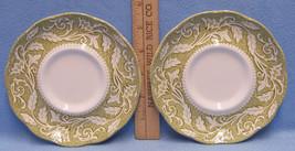 Vintage Set 2 Saucers J & G Meakin Sterling Renaissance Ironstone England - $13.85