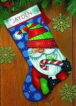 Dimensions Crafts 71-09154 Needlecraft Sweet Santa Stocking in Needlepoint - $32.16