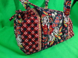 Vera Bradley Anastasia Duffel Travel Weekend Retired Red Floral Hipster ... - £29.17 GBP