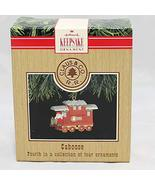 Hallmark Keepsake Miniature Ornament Caboose 4th in Claus and Co. R.R. S... - $4.94
