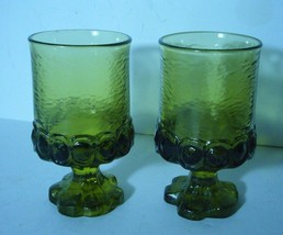 Retro Mid Century Tiffin Franciscan Green Glass Medieval Style Goblet 19... - $11.93
