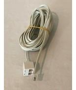Radio Shack Modular Telephone Cord 25' Extension Splitter White 1 Male 2... - $14.99