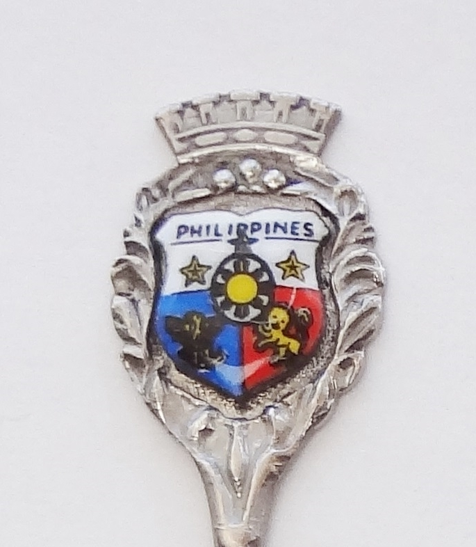 Primary image for Collector Souvenir Spoon Philippines Coat of Arms Porcelain Emblem