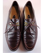 Rockport Womens Brown Leather Oxfords Low Heel Trouser Shoes Size 6 M - $44.95