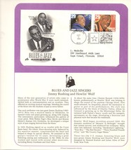 Blues and Jazz Singers, Wolf and Rushing, Postal Commemorative Society - $2.99