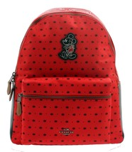 NWT Authentic Coach Charlie Backpack In Bandana Print With Mickey In Bri... - $445.49